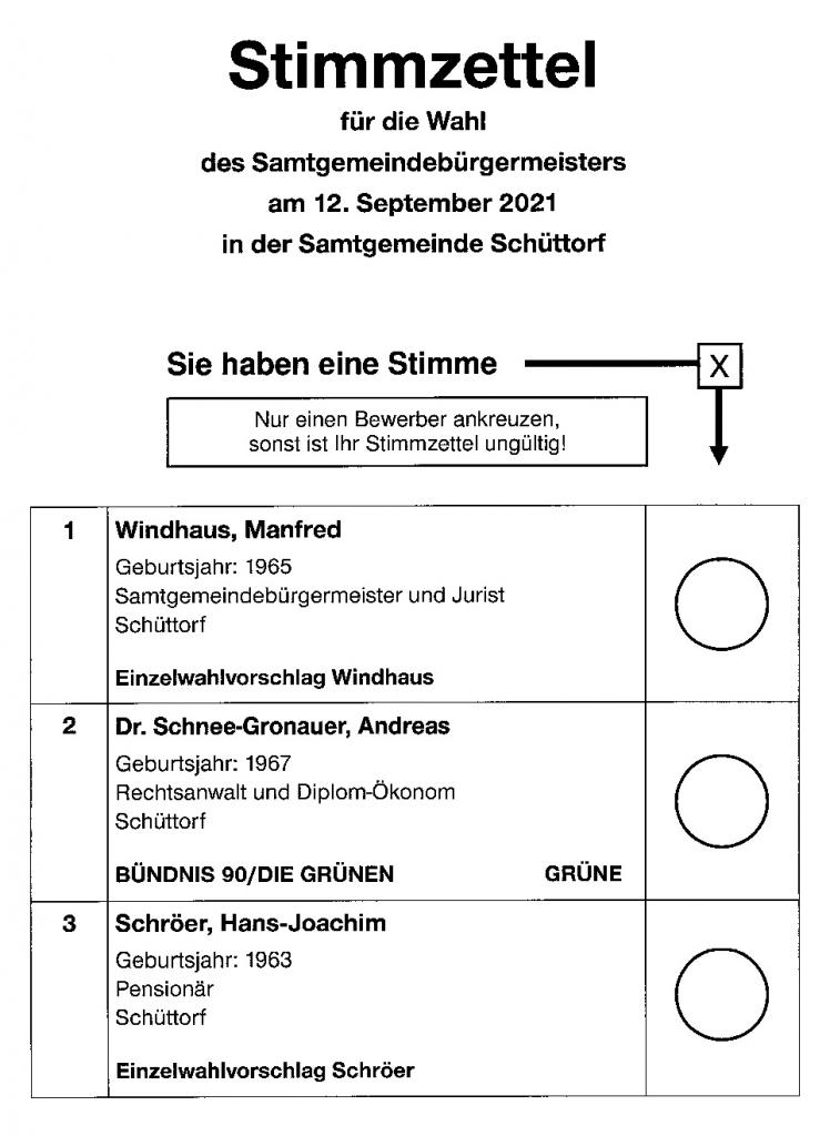 Stimmzettel zur Kommunalwahl